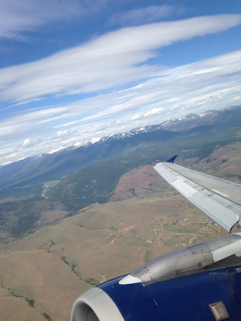 Flying into Missoula International Airport.