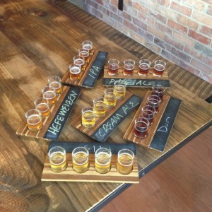 A beer sampling from Kalispell Brewing Company.