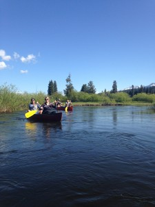 Navigating the Clearwater Canoe Trail.