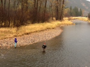Wading anglers in Rock Creek.