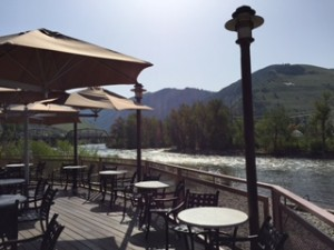 (Riverside dining at the DoubleTree by Hilton Missoula Edgewater)