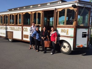 (Trolley transportation to events in Flathead Valley)