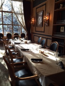 (Private dining in the wine room at Grouse Mountain Lodge)