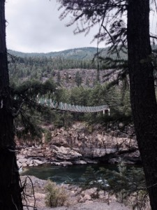 Swinging Bridge at Kootenai Falls