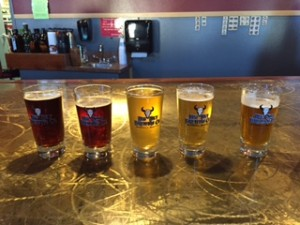 Samplers from Big Sky Brewing. Some favorites: Moose Drool, Trout Slayer and Powder Hound.