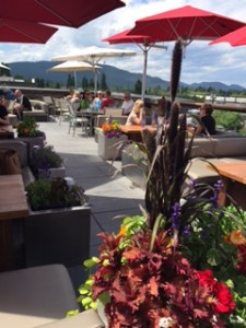 Casey's rooftop Skybar in Whitefish offers great atmosphere along with amazing signature cocktails like their Huckleberry Margarita.