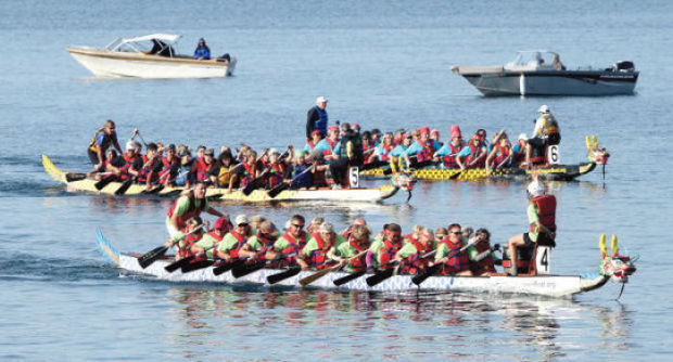 Montana Dragon Boat Festival on Flathead Lake.