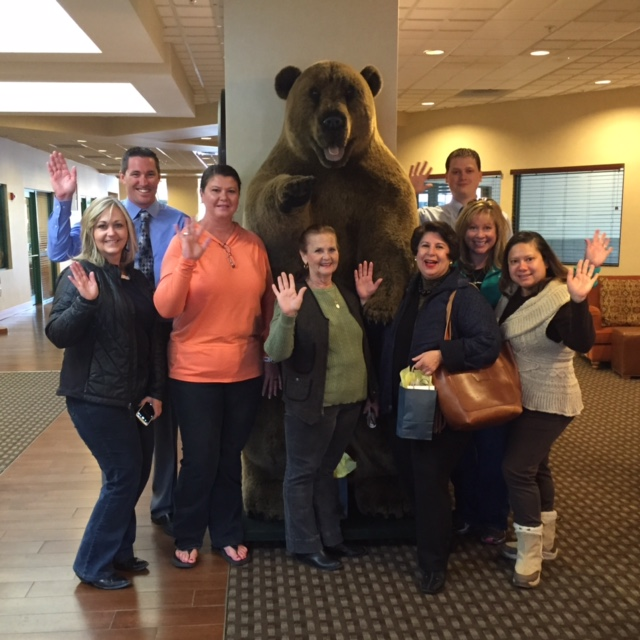Even the (stuffed) grizzly bears are friendly in Montana.