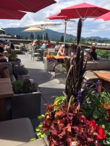 Casey's Skybar, with views of Whitefish.
