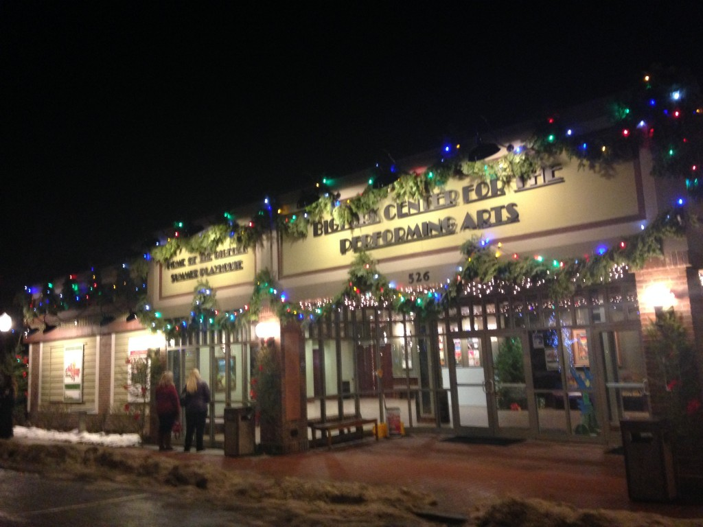 Evening lights and décor in downtown Bigfork