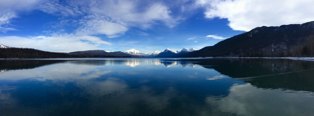 Winter views at Lake McDonald.