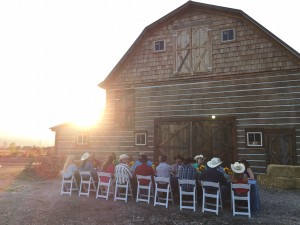 An outdoor dinner at Z5 Guest Ranch.