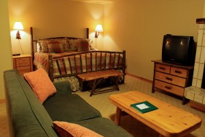 Guest suites at Mountain Lake Lodge