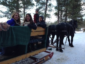 Horse-drawn sleigh rides at Double Arrow Resort