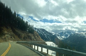 One of the views along the Scenic Beartooth Highway.