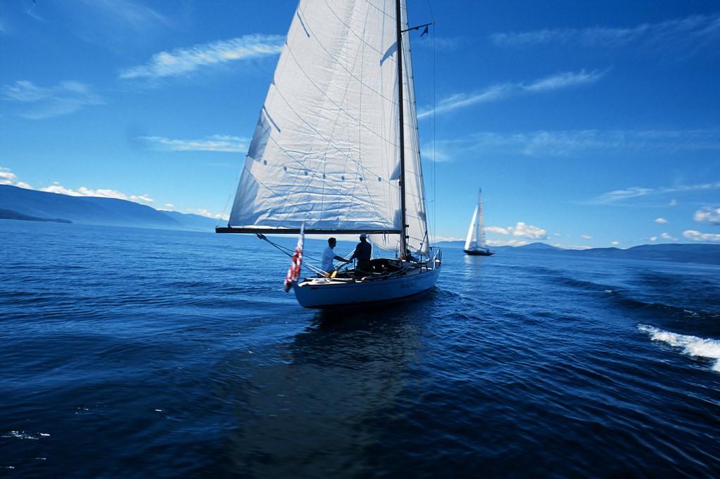 Sailing on Flathead Lake.