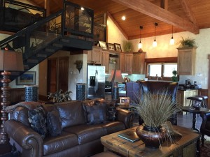 Beautiful interiors in one of the wilderness homes.