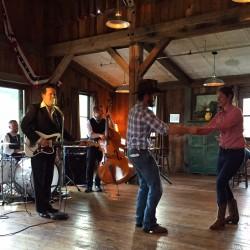 Good old-fashioned barn dance.