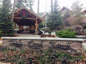 Entrance to the lodge at Triple Creek Ranch.