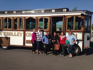 A trolley is a great transportation option for groups in Kalispell.