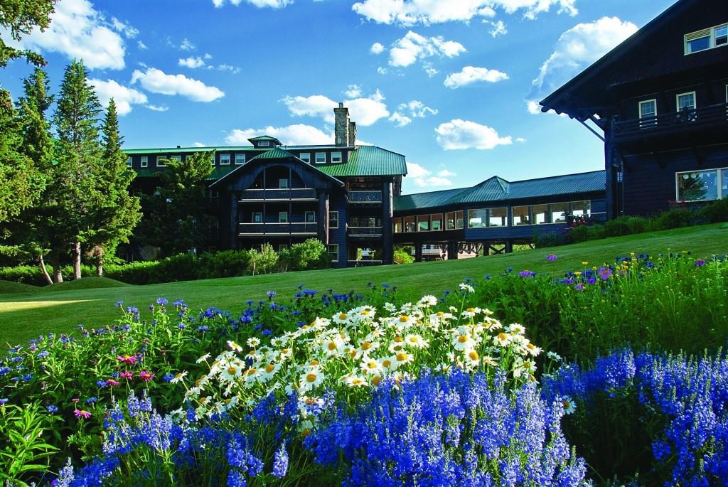 Glacier Park Lodge in East Glacier Park, Montana.
