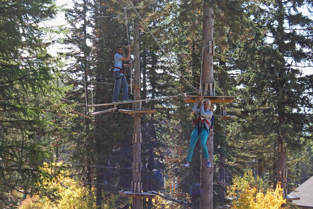 The Aerial Adventure Park at Whitefish Mountain Resort.
