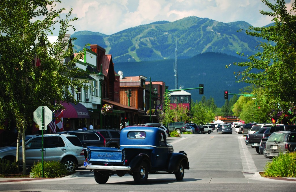 Central Avenue in downtown Whitefish.