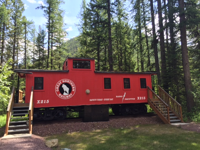 This renovated caboose offers overnight accommodations.