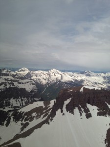 The view from a helicopter tour with Glacier Jet Center.