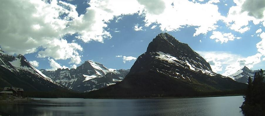 Many Glacier in Glacier National Park.