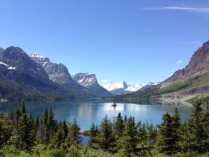 Wild Goose Island and St. Mary Lake in Glacier National Park.