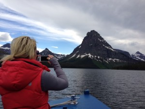 Great photo opportunities on the boat tours in Glacier National Park.