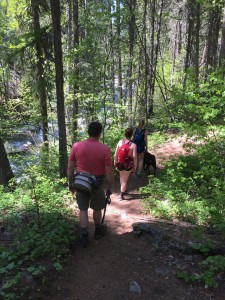Hiking in the Bitterroot National Forest.