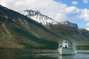 Wood boat excursion on Lake McDonald. (Photo credit: Glacier Park Boat Company)