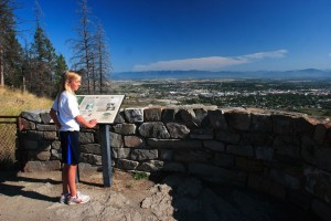 Taking in the view of Kalispell from Lone Pine State Park.