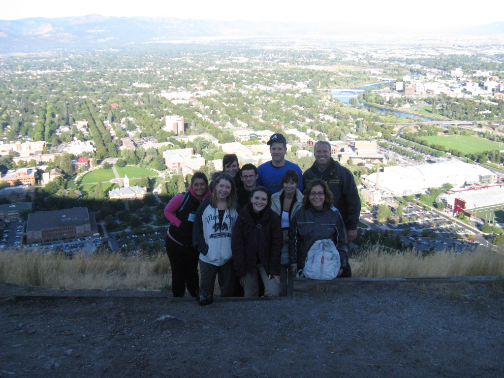 The view of Missoula from the 'M' on Mount Sentinel.