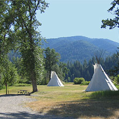 Tipis at Beavertail Hill State Park. Photo: Montana State Parks.