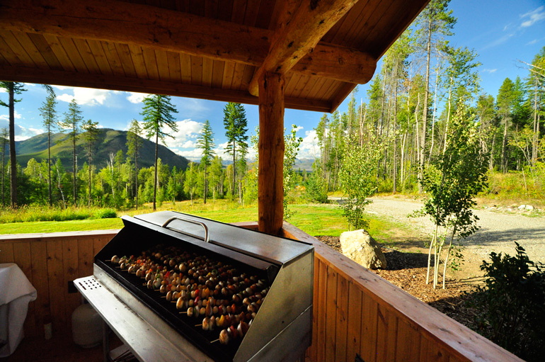 A BBQ with a view.