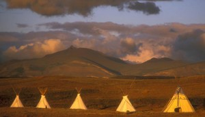 Tipi village. Photo: Lodgepole Gallery and Tipi Village.