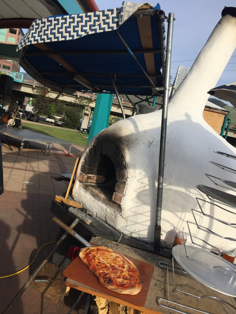Wood-fired pizza from the Clove Cart