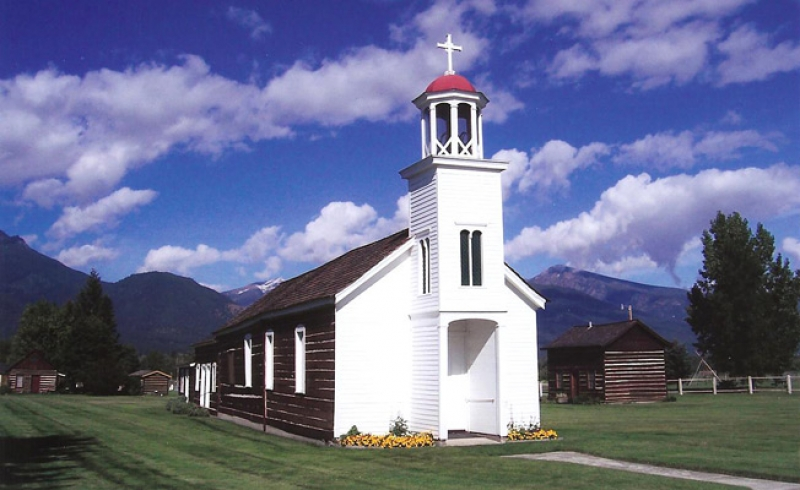 St. Mary's Mission in Stevensville. Photo: St. Mary's Mission