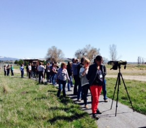 Birding at Lee Metcalf Wildlife Refuge.