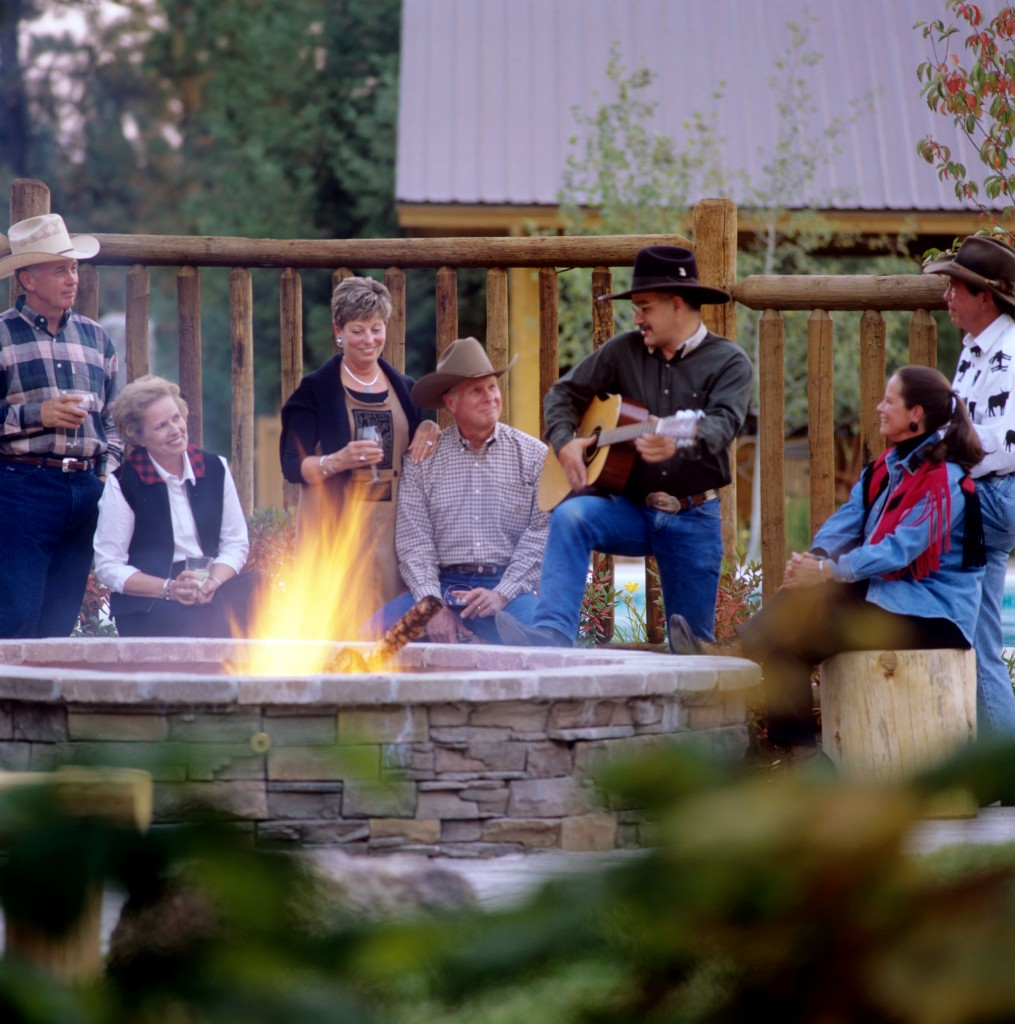 Singing cowboy at Triple Creek Ranch. Photo: Triple Creek Ranch
