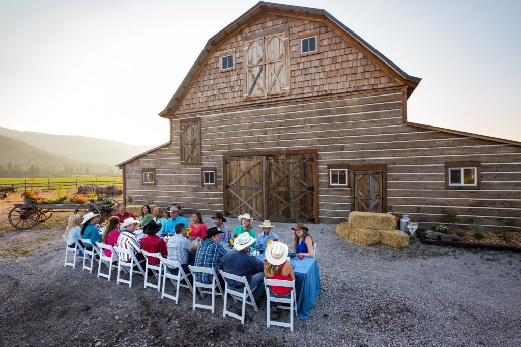 The perfect backdrop for a Montana dinner event.