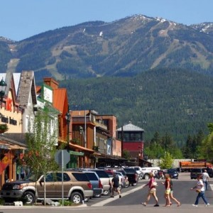 The charming mountain town of Whitefish, with world-class skiing at Whitefish Mountain Resort. Photo Explore Whitefish