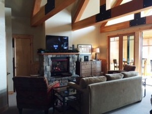 Mountainside lodging at Whitefish Mountain Resort.
