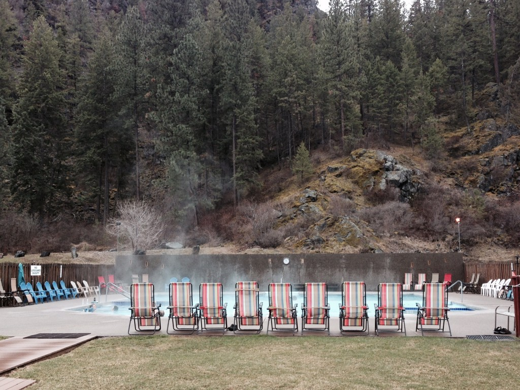 Rejuvenating pools at Quinn's Hot Springs.