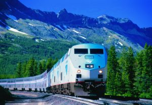 Empire Builder near Glacier National Park. Photo: Amtrak.