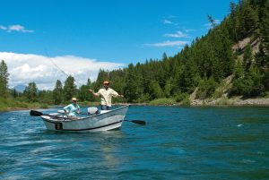 Casting a line on the Middle Fork of the Flathead River.