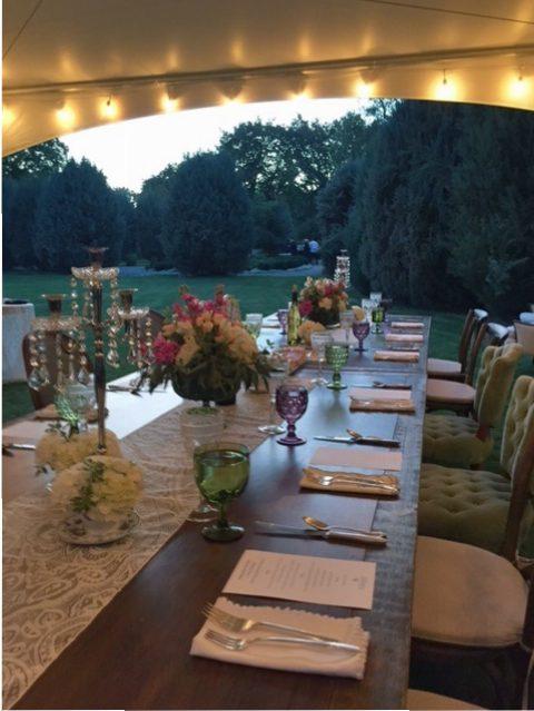 Beautiful dinner at the Conrad Mansion in Kalispell.